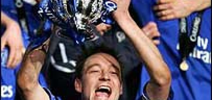 Terry with Carling Cup
